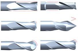 エンドミルの再研磨と改造事例